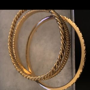 Faux gold bangles - 2 sets of 3